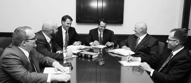 Left to right: Brandon Stone, Bruce Franson, Brett Boulton,<br />Mark Flickinger, Kevin Sutterfield, Zeb Weeks